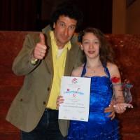 Viorela +Directorul artistic San Remo Junior